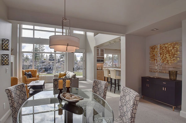 Spokane townhome features courtyards, patios, terraces.